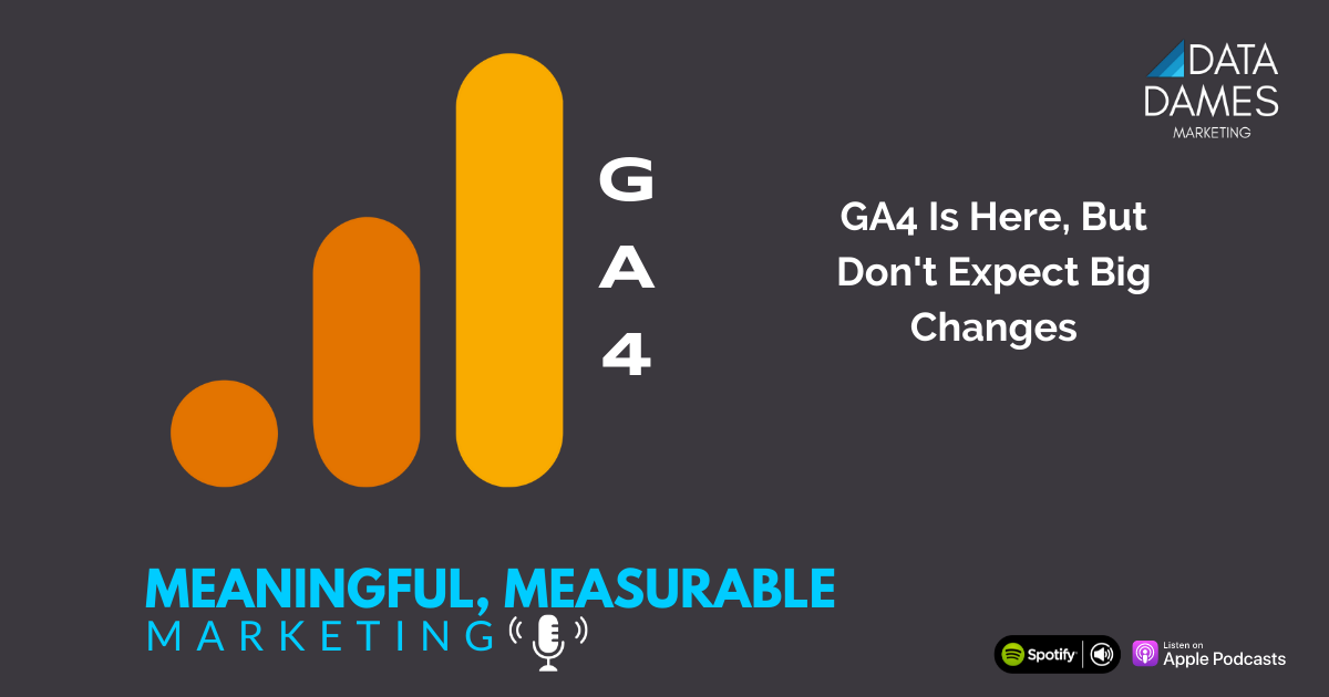 podcast artwork for GA4 is here but don't expect big changes